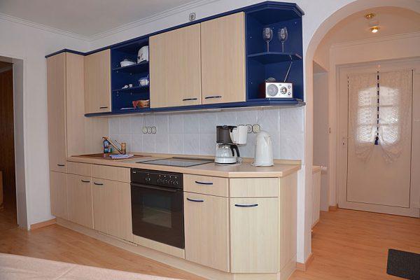 Küche im Appartement vom Ferienhaus im Ostseebad Binz auf Rügen
