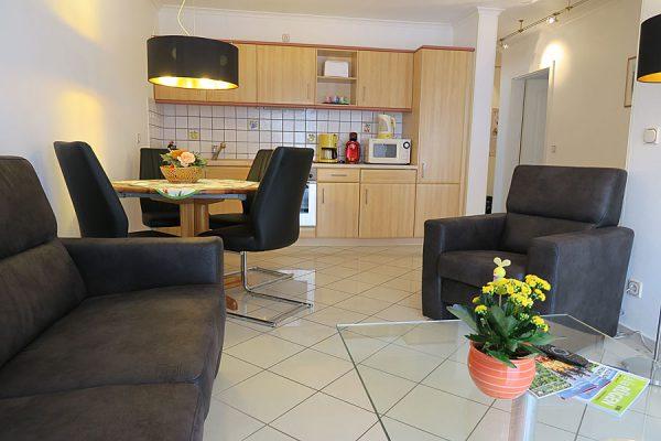 Urlaub auf der Insel Rügen in der 3-Zimmer-Ferienwohnung in Binz